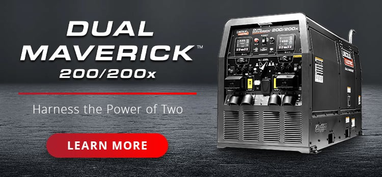Dual Maverick Two welders powered by one diesel engine-driven machine