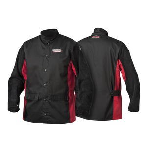 SHADOW SPLIT LEATHER-SLEEVED JACKET