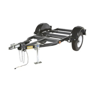 Small Two-Wheel Road Trailer with Duo-Hitch