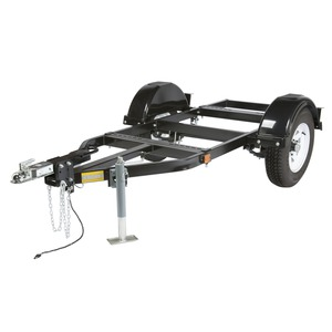 Large Two-Wheel Road Trailer with Duo-Hitch
