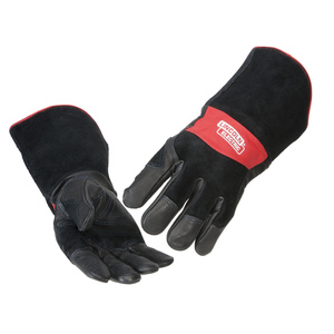 Red Line Premium Leather MIG Stick Welding Gloves