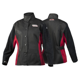 Amp Angel split leather sleeved FR Cloth Welding Jacket