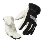 Top grain leather palm and split cowhide top hand for balanced protection & comfort